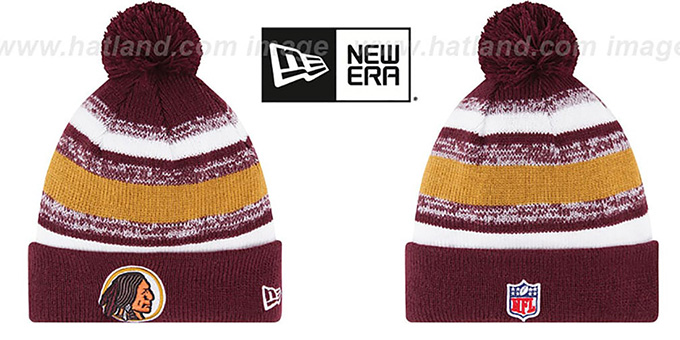 Redskins '2014 THROWBACK STADIUM' Knit Beanie Hat by New Era : pictured without stickers that these products are shipped with