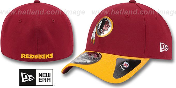Redskins '2015 NFL DRAFT FLEX' Hat by New Era : pictured without stickers that these products are shipped with
