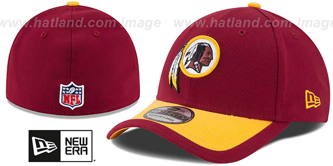 Redskins '2015 NFL STADIUM FLEX' Burgundy-Gold  Hat by New Era : pictured without stickers that these products are shipped with