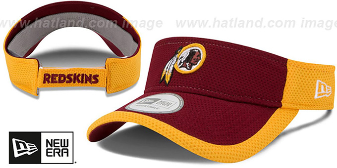 Redskins '2015 NFL TRAINING VISOR' Burgundy-Gold by New Era : pictured without stickers that these products are shipped with