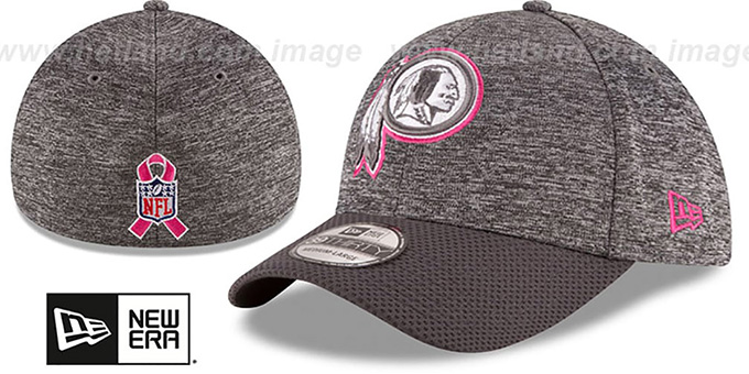 Redskins '2016 BCA FLEX' Grey-Grey Hat by New Era : pictured without stickers that these products are shipped with