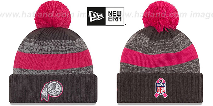 Redskins '2016 BCA STADIUM' Knit Beanie Hat by New Era : pictured without stickers that these products are shipped with