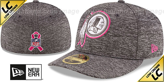 Redskins '2016 LOW-CROWN BCA' Grey Fitted Hat by New Era : pictured without stickers that these products are shipped with