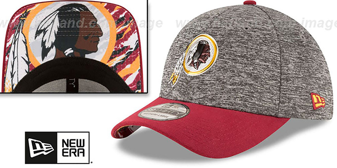 Redskins '2016 NFL DRAFT FLEX' Hat by New Era : pictured without stickers that these products are shipped with