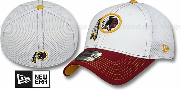 Redskins 'BLITZ NEO FLEX' Hat by New Era : pictured without stickers that these products are shipped with