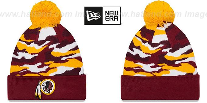 Washington Redskins CAMO CAPTIVATE Knit Beanie Hat c230747567d