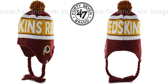 Redskins 'CRANBROOK' Knit Beanie Hat by Twins 47 Brand : pictured without stickers that these products are shipped with