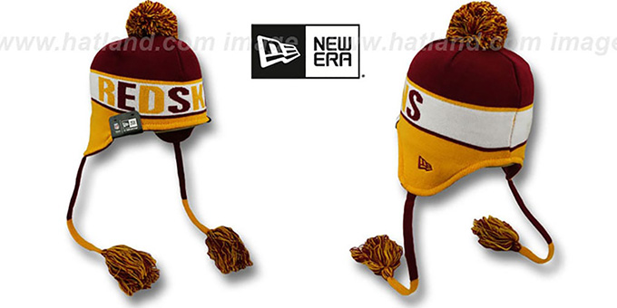 Redskins 'CRAYON BOX' Knit Beanie Hat by New Era : pictured without stickers that these products are shipped with
