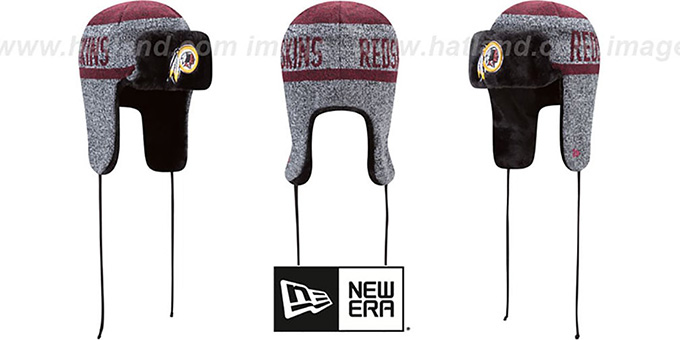 Redskins 'FROSTWORK TRAPPER' Burgundy Knit Hat by New Era