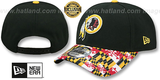 Redskins  MARYLAND-FLAG LC 940  Black Hat by New Era 5562b3668