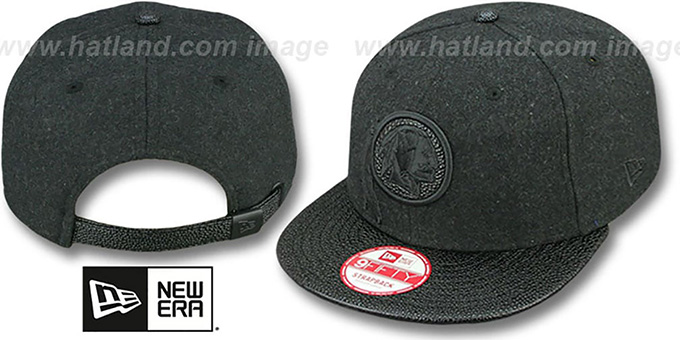 Redskins 'MELTON STINGER STRAPBACK' Hat by New Era : pictured without stickers that these products are shipped with