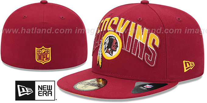 Redskins 'NFL 2013 DRAFT' Burgundy 59FIFTY Fitted Hat by New Era : pictured without stickers that these products are shipped with