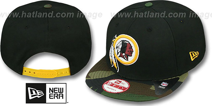Redskins 'NFL CAMO-BRIM SNAPBACK' Adjustable Hat by New Era : pictured without stickers that these products are shipped with