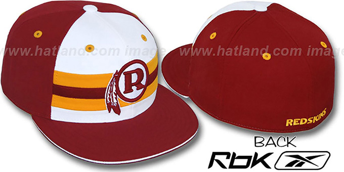 Redskins 'NFL-HORIZON THROWBACK' Fitted Hat by Reebok : pictured without stickers that these products are shipped with