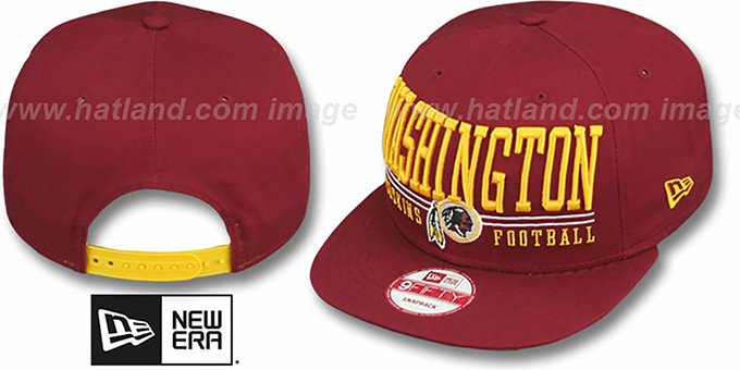 1062415645c Redskins  NFL LATERAL SNAPBACK  Burgundy Hat by New Era