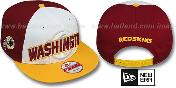 Redskins 'NFL ONFIELD DRAFT SNAPBACK' Hat by New Era : pictured without stickers that these products are shipped with
