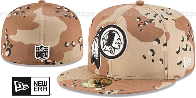 Washington Redskins NFL TEAM-BASIC Desert Storm Camo Fitted Hat 2d01aa5e2fb