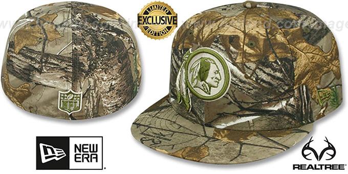 Washington Redskins NFL TEAM-BASIC Realtree Camo Fitted Hat 12835014af3