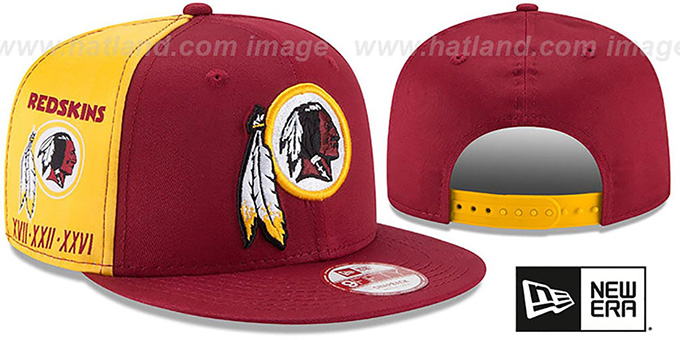Redskins 'PANEL PRIDE SNAPBACK' Hat by New Era : pictured without stickers that these products are shipped with