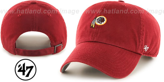 Redskins 'POLO STRAPBACK' Burgundy Hat by Twins 47 Brand : pictured without stickers that these products are shipped with