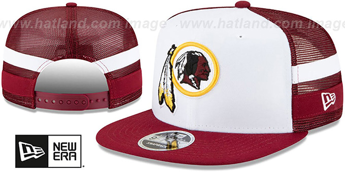 Redskins 'SIDE-STRIPED TRUCKER SNAPBACK' Hat by New Era