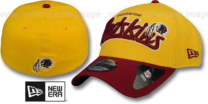 Redskins 'TAILSWOOP FLEX' Hat by New Era : pictured without stickers that these products are shipped with