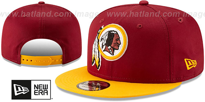Redskins 'TEAM-BASIC SNAPBACK' Burgundy-Gold Hat by New Era