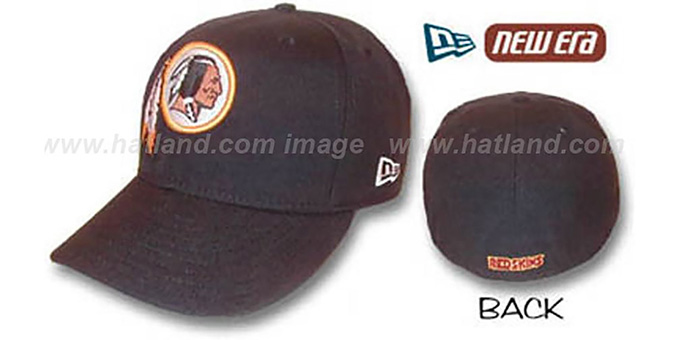 Redskins 'TEAM LOGO' Fitted Hat by New Era : pictured without stickers that these products are shipped with