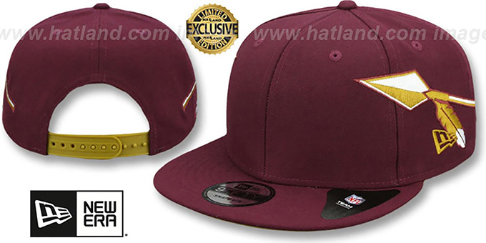 302e3db5a2ef0c Redskins THROWBACK SPEARS SNAPBACK Maroon Hat by New Era