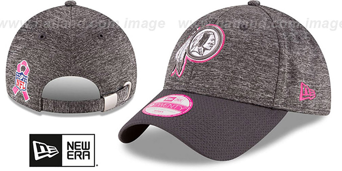 Redskins 'WOMENS 2016 BCA STRAPBACK' Grey-Grey Hat by New Era : pictured without stickers that these products are shipped with