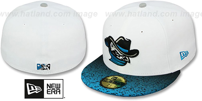 River Bandits 'GRADIENT HOOK' Fitted Hat by New Era : pictured without stickers that these products are shipped with