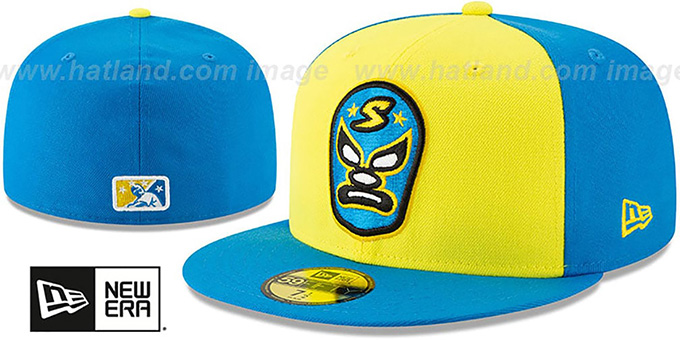River Cats 'COPA' Yellow-Blue Fitted Hat by New Era