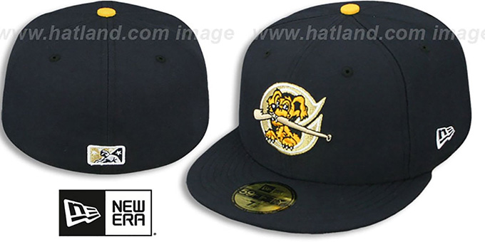 Riverdogs 'PERFORMANCE HOME' Navy Fitted Hat by New Era : pictured without stickers that these products are shipped with
