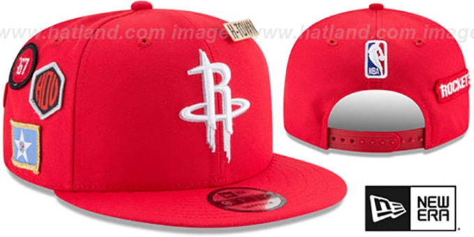 Houston Rockets 2018 NBA DRAFT SNAPBACK Red Hat by New Era e42444f10b9