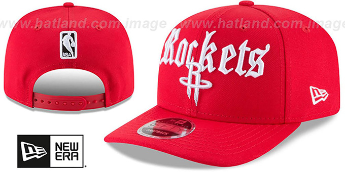 competitive price 3db4a 11d49 Rockets  CLASSIC-CURVE SNAPBACK  Red Hat by New Era