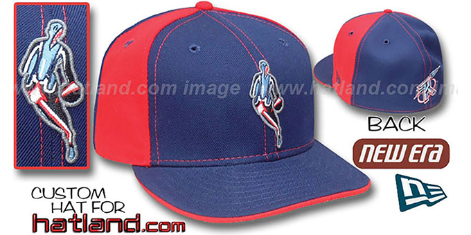 Rockets 'INSIDER PINWHEEL' Navy-Red Fitted Hat by New Era