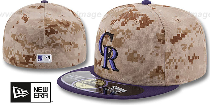 Rockies '2014 STARS N STRIPES' Fitted Hat by New Era : pictured without stickers that these products are shipped with