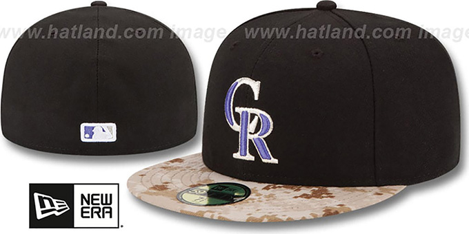 Rockies '2015 STARS N STRIPES' Fitted Hat by New Era : pictured without stickers that these products are shipped with