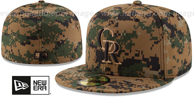 Rockies 2016 MEMORIAL DAY 'STARS N STRIPES' Hat by New Era : pictured without stickers that these products are shipped with