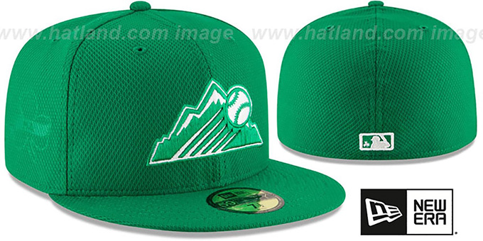 Rockies '2016 ST PATRICKS DAY' Hat by New Era : pictured without stickers that these products are shipped with