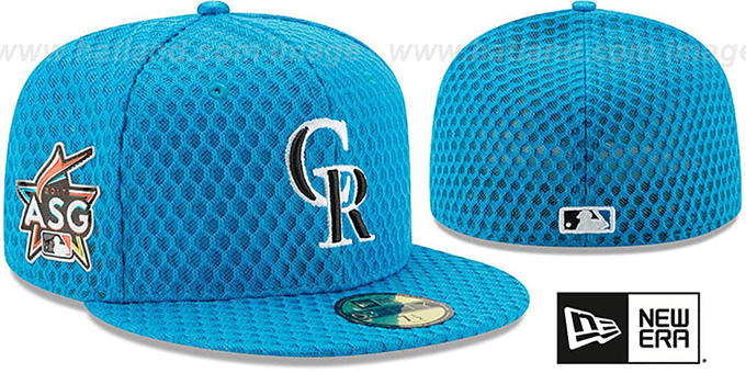 online store abf0f a14ff Rockies  2017 MLB HOME RUN DERBY  Blue Fitted Hat by ...