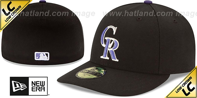 Rockies 'LOW-CROWN' GAME Fitted Hat by New Era : pictured without stickers that these products are shipped with