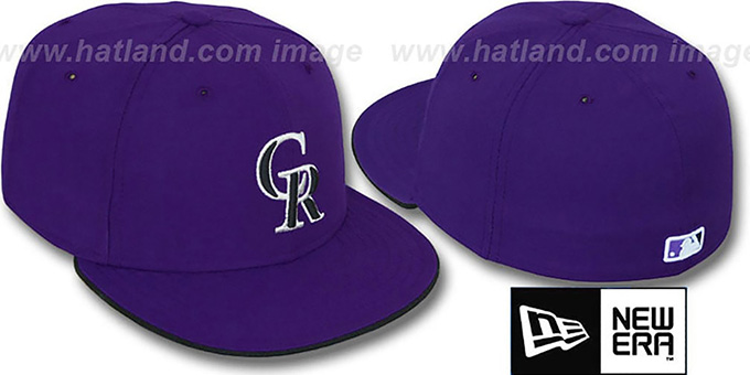 Rockies 'PERFORMANCE ALTERNATE'-2 Hat by New Era : pictured without stickers that these products are shipped with
