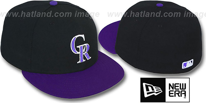 Rockies 'PERFORMANCE ALTERNATE' Hat by New Era : pictured without stickers that these products are shipped with