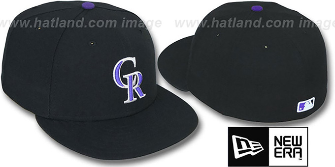 Rockies 'PERFORMANCE GAME' Hat by New Era : pictured without stickers that these products are shipped with