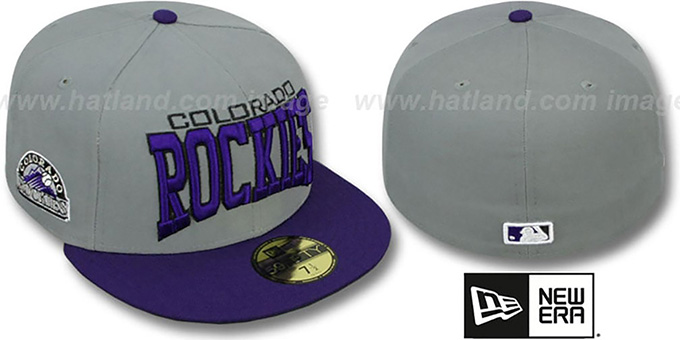 Colorado Rockies PRO-ARCH Grey-Purple Fitted Hat by New Era e432672a758