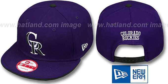 Rockies 'REPLICA ALTERNATE-2 SNAPBACK' Hat by New Era : pictured without stickers that these products are shipped with
