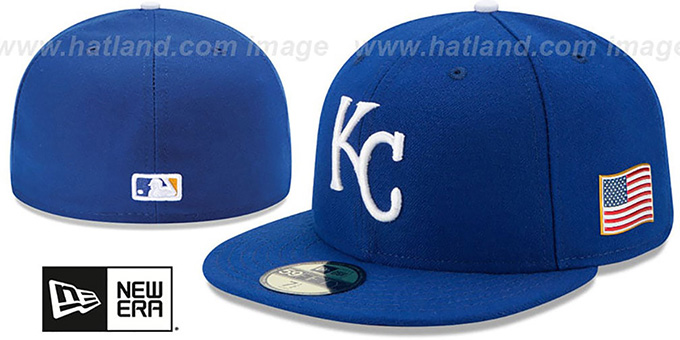Royals '2015 STARS-N-STRIPES 911 GAME' Hat by New Era : pictured without stickers that these products are shipped with