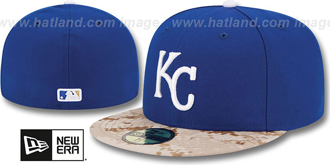 Royals '2015 STARS N STRIPES' Fitted Hat by New Era : pictured without stickers that these products are shipped with