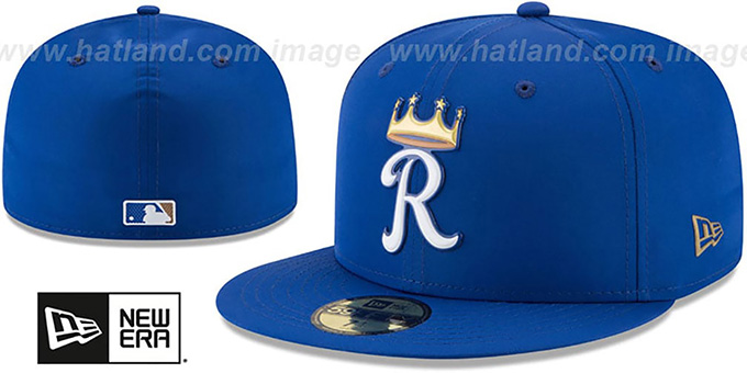 Royals '2018 PROLIGHT-BP' Royal Fitted Hat by New Era : pictured without stickers that these products are shipped with